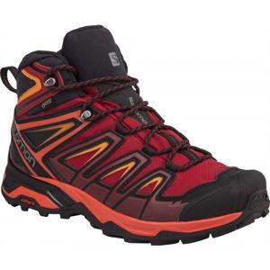 Salomon X ULTRA 3 MID GTX červená 9.5 - Pánska hikingová  obuv