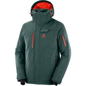 Salomon BRILLIANT JKT M zelená S - Pánska lyžiarska bunda