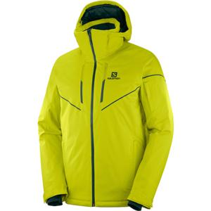 Salomon STORMRACE JKT M žltá S - Pánska lyžiarska bunda