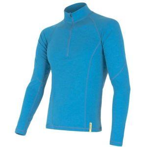 Sensor MERINO DF modrá S - Pánske funkčné tričko