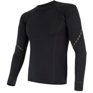 Sensor MERINO AIR čierna L - Pánske funkčné tričko