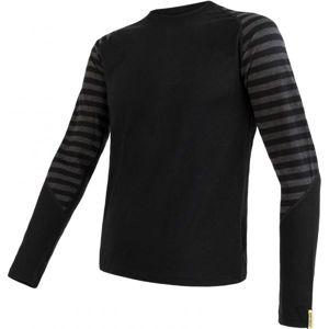 Sensor MERINO ACTIVE M čierna XL - Pánske tričko