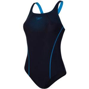 Speedo TECH PLACEMENT MEDALIST tmavo modrá 38 - Dámske jednodielne plavky