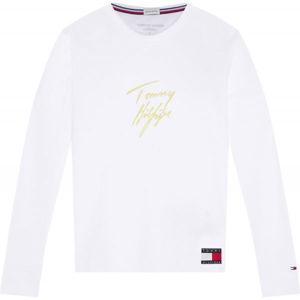 Tommy Hilfiger LS TEE GOLD  M - Dámske tričko s dlhým rukávom