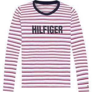 Tommy Hilfiger LS TEE STRIPE  L - Dámske tričko s dlhým rukávom