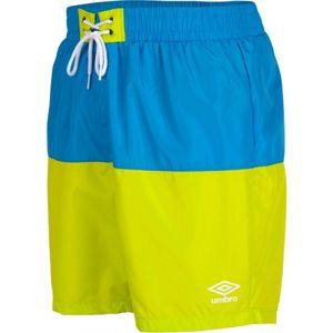 Umbro PANELLED SWIM SHORT zelená M - Pánske plavecké šortky