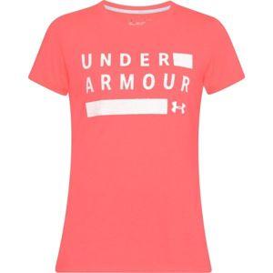Under Armour TBORNE TRAIN GRPH TWIST SSC ružová M - Dámske tričko