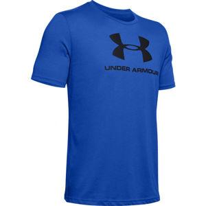 Under Armour SPORTSTYLE LOGO SS modrá M - Pánske tričko