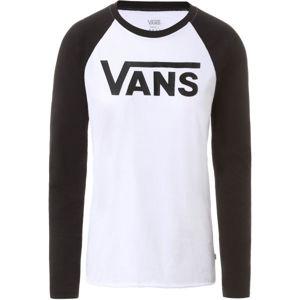 Vans WM FLYING V LS RAGLAN  S - Dámske tričko s dlhým rukávom