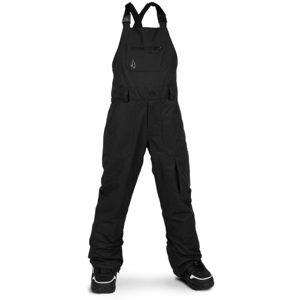 Volcom BARKLEY BIB OVERALL čierna L - Detské lyžiarske nohavice
