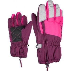 Ziener LUDO MINIS fialová 3 - Detské rukavice